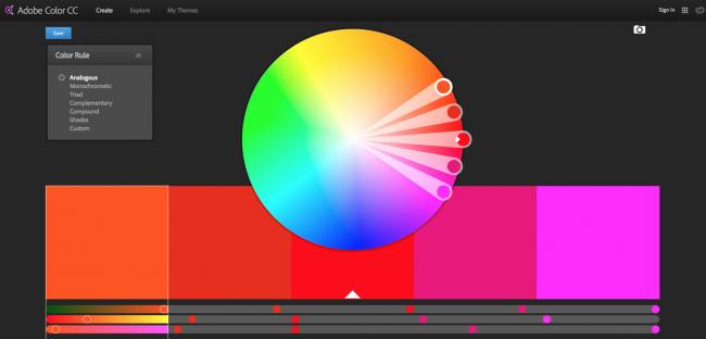 Ferramentas como o Adobe CC podem ajudá-lo a acelerar sua compreensão da cor