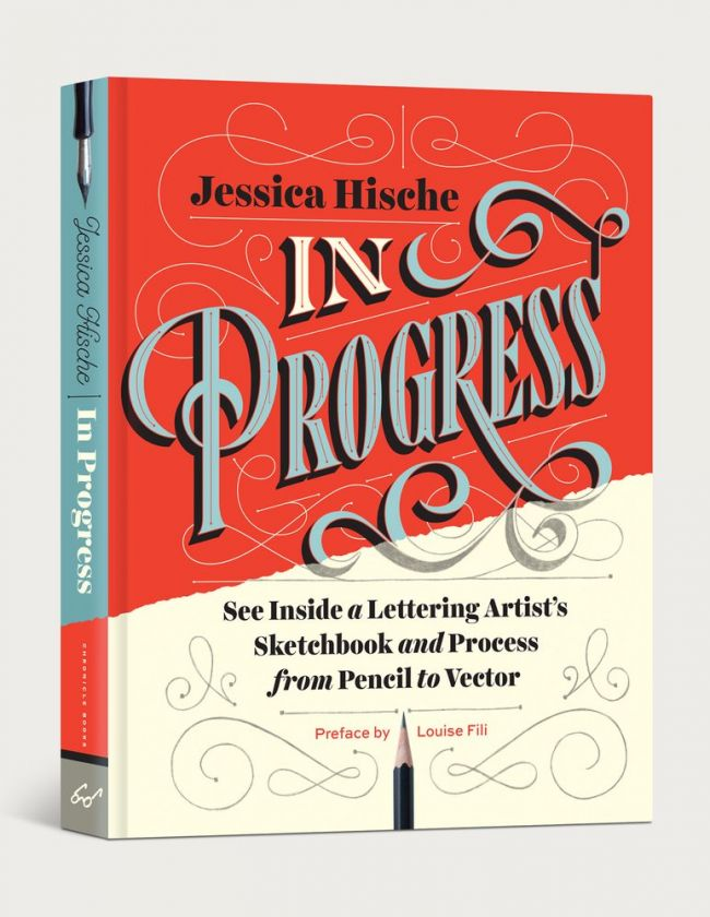 Jessica Hische compartilha seus segredos de tipografia em seu livro, In Progress