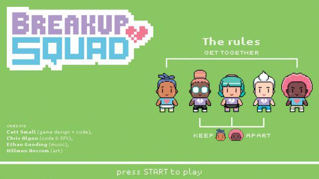 Breakup Squad é um jogo de cinco jogadores baseado em manter dois ex-amantes separados em uma festa