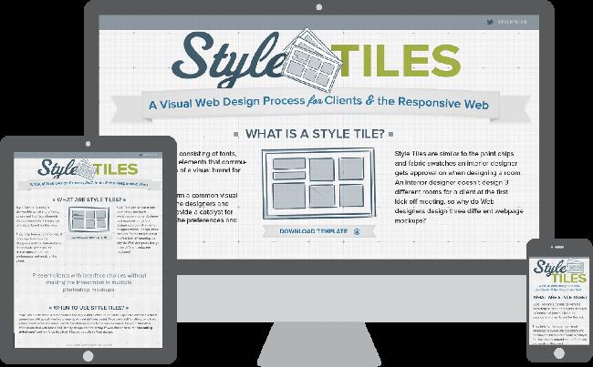 Style Tiles é um sistema para comunicar a essência de uma marca visual para a web