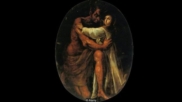 Cristóbal de Villalpando abraçou a cochonilha no quadro 'Santa Rosa tentada pelo demônio', de 1695 | Foto: Alamy