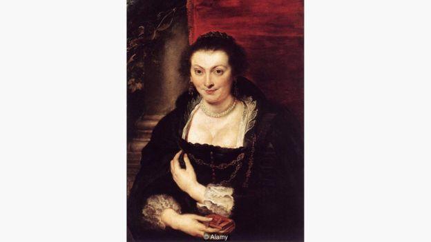 Retrato de Isabella Brandt (1610), pintado por Rubens, mostra a versatilidade das pinturas feitas a partir da cochonilha | Foto: Alamy