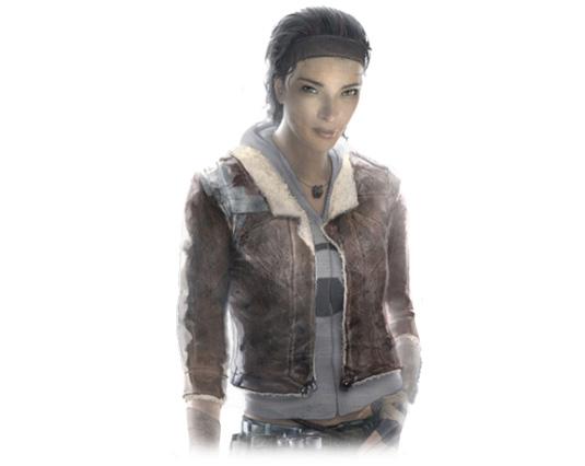 O design de 2004 da Alyx foi baseado na aparência da atriz Jamil Mullen