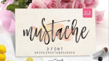Mustache Fonte Pincel Gratuita