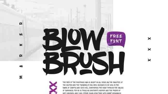 fonte gratuita blow brush